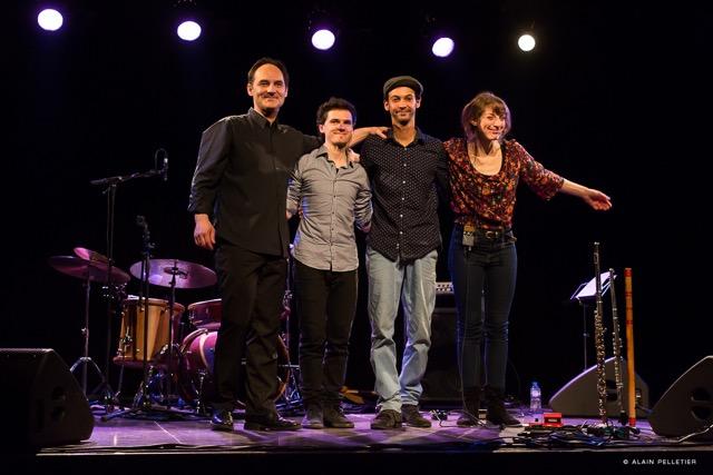 De g à d, Laurent Maur, Ouriel Ellert, Curtis Efoua et Emilie Calmé.
